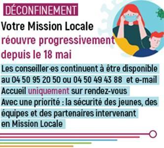 Reprise des permanences de la Mission Locale
