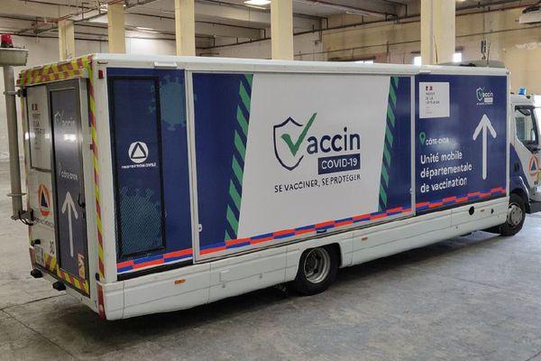 Unité mobile de vaccination